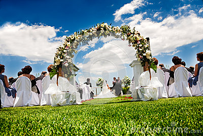 Idyllic wedding Editorial Image