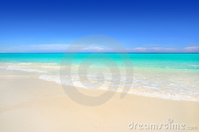 Idyllic white sand tropical beach