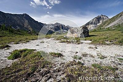 Idyllic wild nature in East Siberia mountains