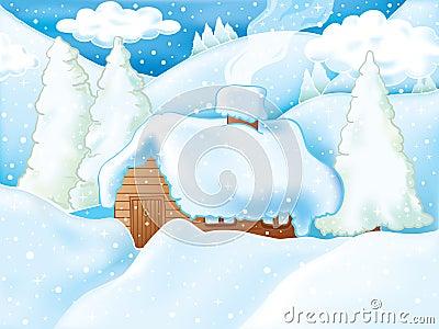 Idyllic winter scene