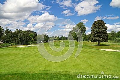 Idyllische golfcursus