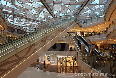 IFC Mall in Shanghai, China Editorial Photography