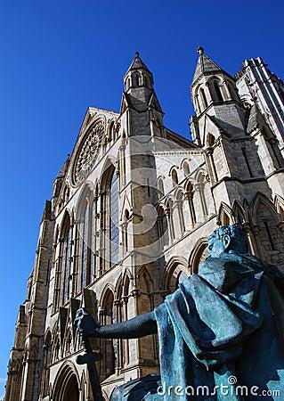 Iglesia de monasterio de York Imagen de archivo editorial