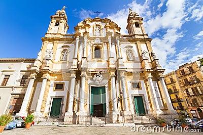 Iglesia de St Dominic, Palermo, Italia.