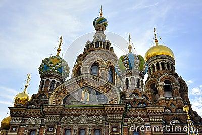 Iglesia del salvador en sangre en St Petersburg
