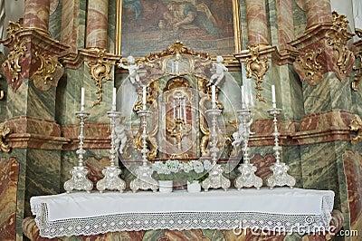 Iglesia del wieskirche en Alemania, Europa.