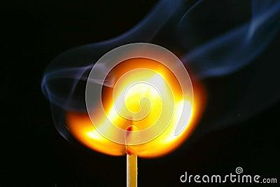 Igniting Match & Smoke