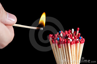 Ignition of matches