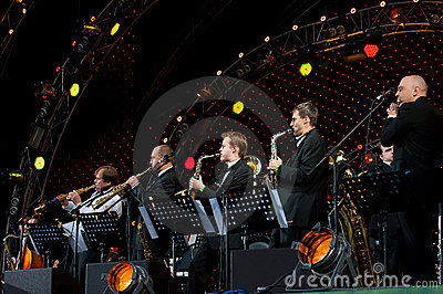 Igor Butman and his band performing Editorial Image