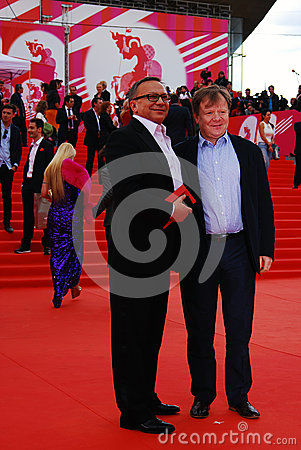 Igor Ugolnikov and Igor Butman at XXXVI Moscow International Film Festival Editorial Stock Photo
