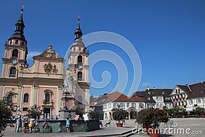 Igreja de Ludwigsburg Foto Editorial