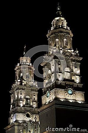 Igreja iluminada, México