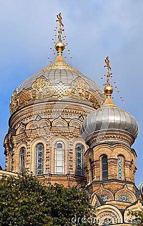 Igreja ortodoxa em St Petersburg