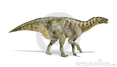 iguanodon dinosaur photorealistic representation side