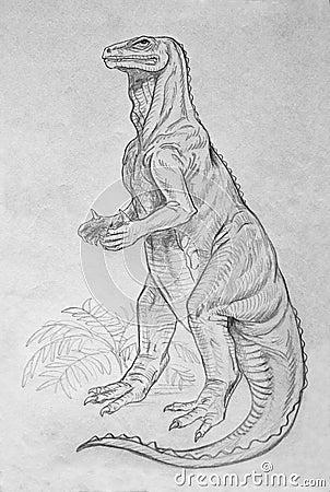 Iguanodon dinosaur portrait