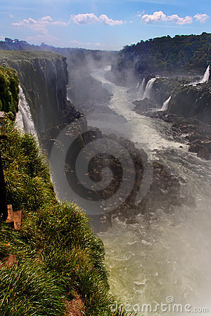 Iguassu Falls Canyon Argentina and Brazil