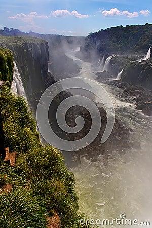 Iguassu Falls Canyon Argentina and Brazil