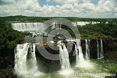 Iguazu Falls seen from Brazil