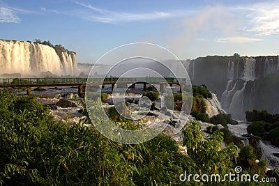 Iguazu Falls walkway, Brazil