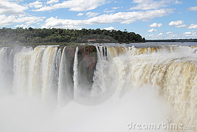 Iguazu waterfalls and clouds
