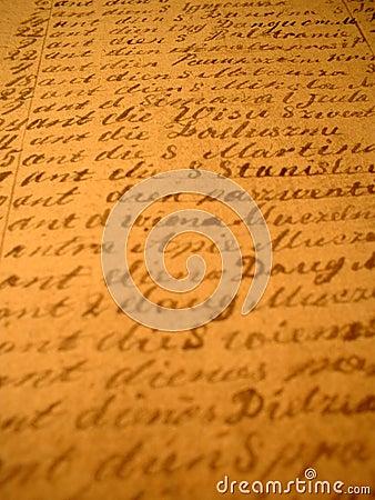 II scritto a mano