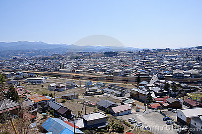 Iida city and Southern Japan Alps
