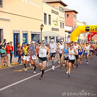 IIIrd international Fuerteventura half-marathon Editorial Photography