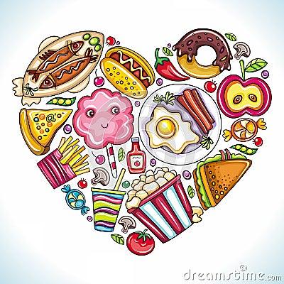 Ik houd van te eten