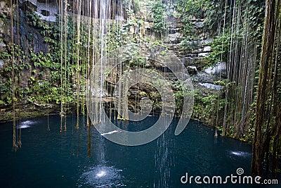 Ik-kil cenote Yucatan Mexico