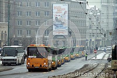 Ikarus buses parade Editorial Image