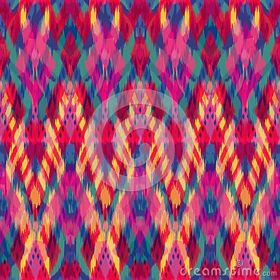 Free Ikat Seamless Pattern As Cloth, Curtain, Textile Design, Wallpa Royalty Free Stock Photo - 108075125
