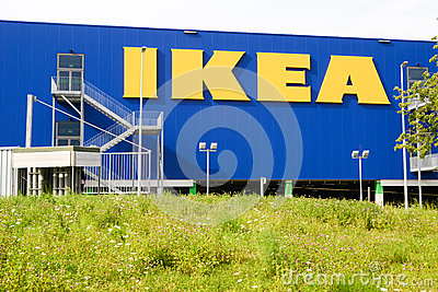 ikea billboard in front of their own appliances retailer editorial photo image 62931356. Black Bedroom Furniture Sets. Home Design Ideas