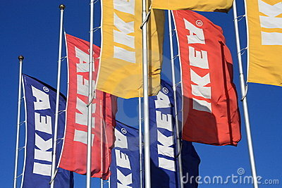 Ikea flags Editorial Photo