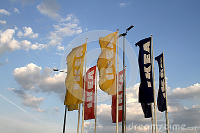 Ikea flags Editorial Stock Image