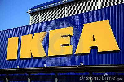 Ikea kennzeichnen Redaktionelles Stockfotografie