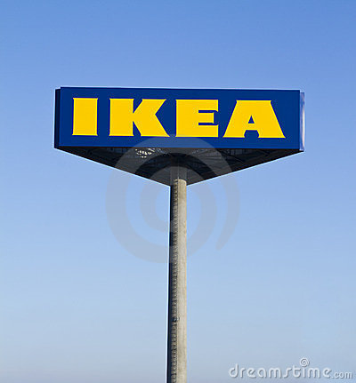 Ikea sign Editorial Stock Image