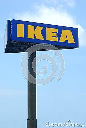 Ikea stor affischtavla Redaktionell Fotografering för Bildbyråer