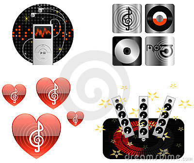 Ikon ilustracyjny muzyki wektor