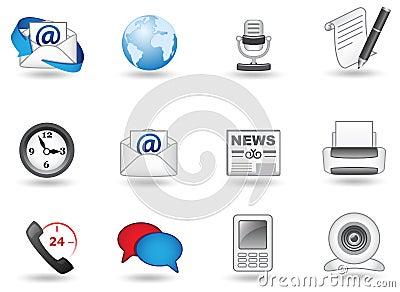 Ikona komunikacyjny set