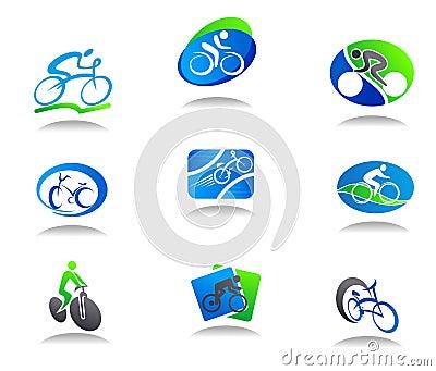 Ikona rowerowy sport