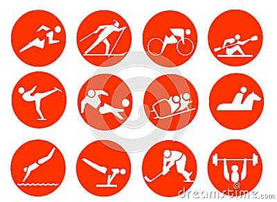 Ikona sportowy symbol