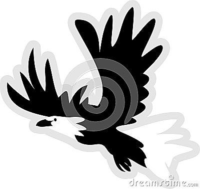 Ikone des kahlen Adlers