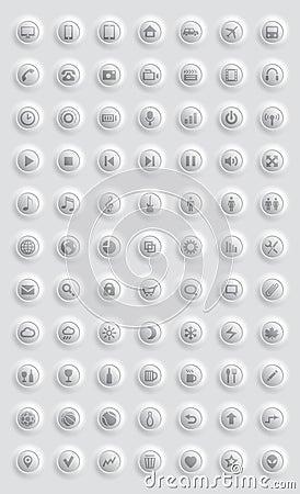Ikonen und Piktogramme eingestellt