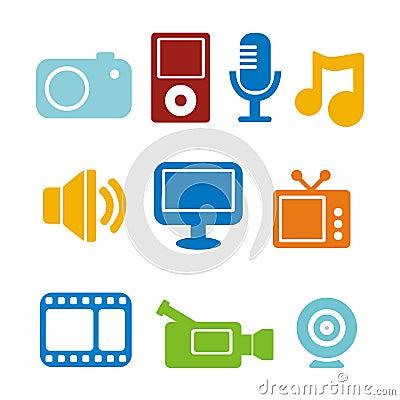 Ikony multimedialne