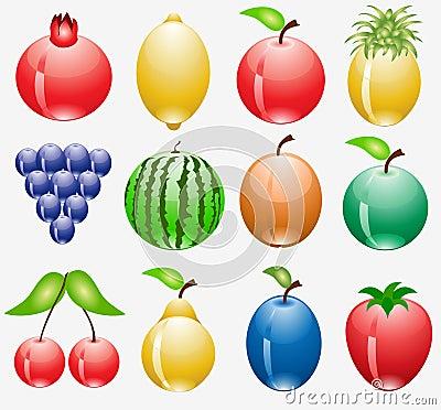 Ikony owocowa sieć