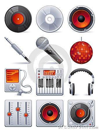 Ikony setu dźwięk