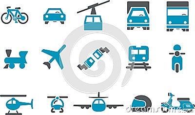 Ikony setu transport