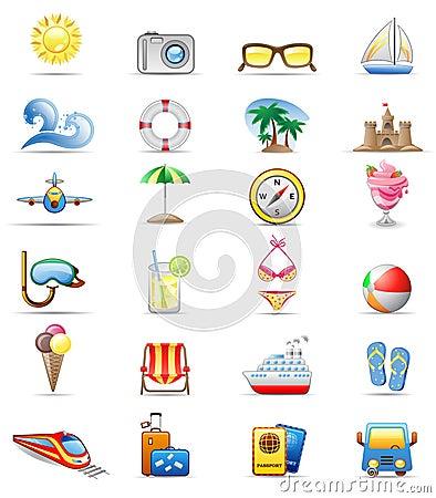 Ikony setu wakacje