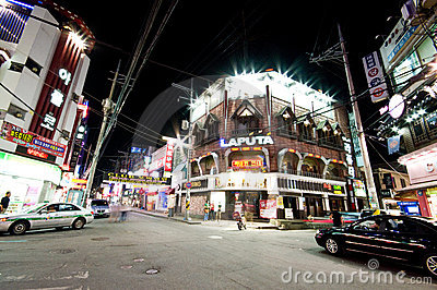 Iksan (South Korea) at night Editorial Photo