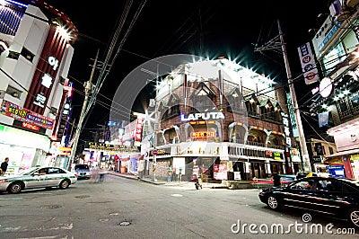 Iksan (South Korea) at night Editorial Photo